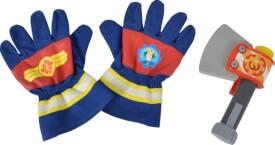 Simba Feuerwehrmann Sam - Feuerwehr-Handschuhe und Spielzeug-Axt